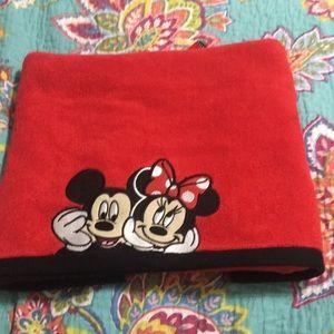 Mickey and Minnie bath towel. 28x50